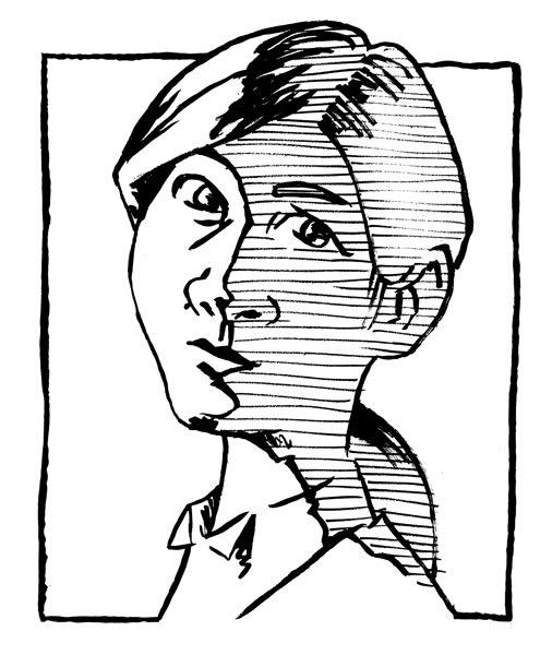 内田有紀の似顔絵