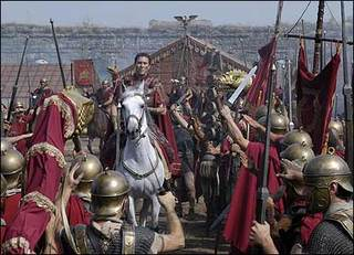 julius caesars army crossing the rubicon river Julius caesar crossing the rubicon to begin a civil war against pompey 49 bc the rubicon is a river in northeast italy in 49 bc, julius caesar is said to have said 'the die is cast' as he crossed it.