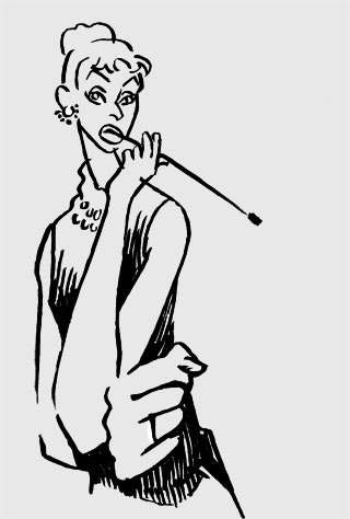 オードリーヘップバーン似顔絵イラスト画像