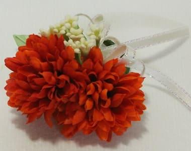アートフラワー(造花)卒園 卒業コサージュ オレンジ色