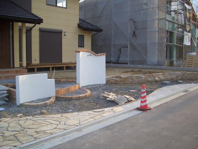 直方市N邸新築外構工事 その2 現場写真1
