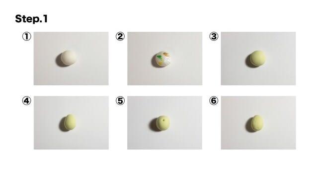ステップ① アボカド本体を成型する