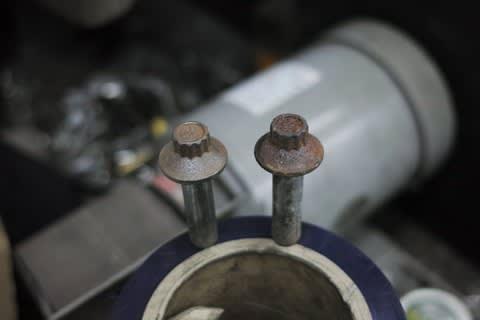 XL1200S ベースからのオイル漏れ修理