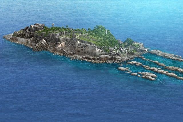 軍艦島未来予測図50年後