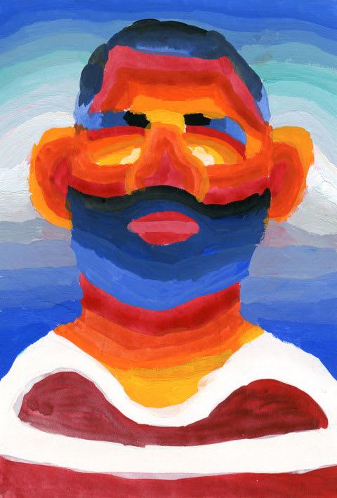 リーチマイケル選手の似顔絵イラスト画像