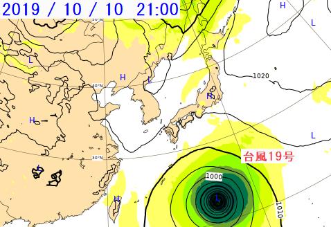 台風 19 号 ヨーロッパ 予想
