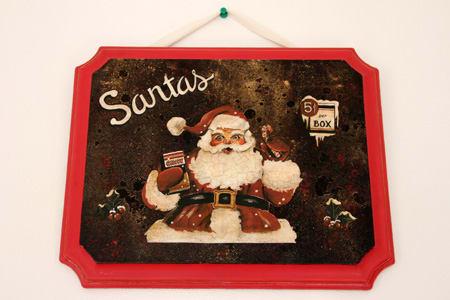 merry christmas 2013 デコパージュのサンタさん nobara note