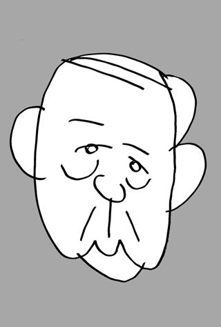 二階俊博の似顔絵