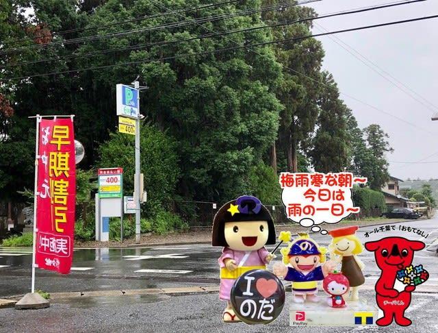 梅雨寒な雨の一日な野田市