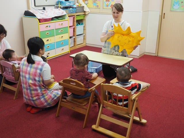 0歳児~2才児 英語正課の様子です