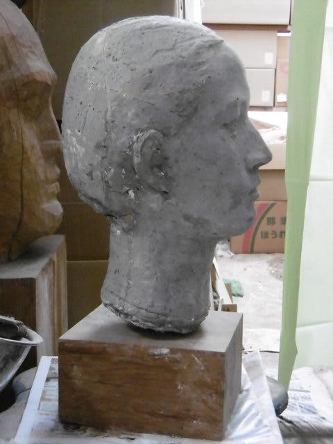 彫刻家】「女の顔」【セメント彫刻】 - <彫刻家>大河原隆則の作品集 ...