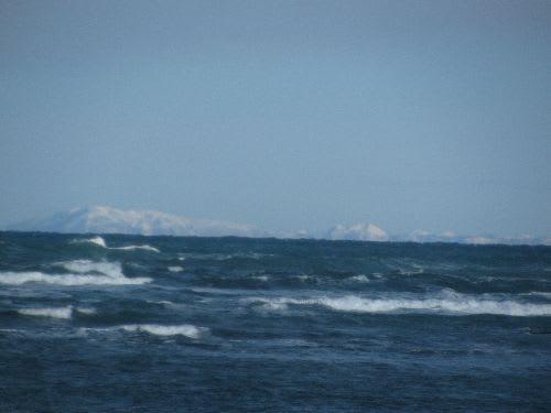 樺太がハッキリ見えました。