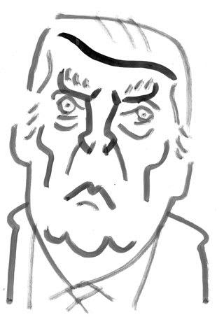 ドナルドトランプ大統領の似顔絵イラスト画像