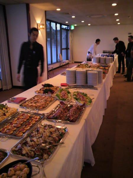 西麻布のイタリアンレストランMario Frittoliの料理でパーティーはスタート
