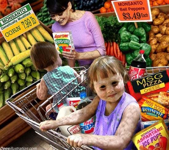 GMO children, fruit, family