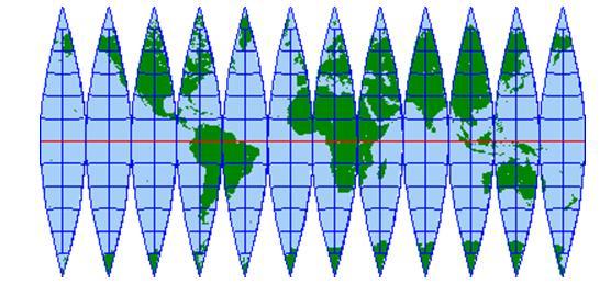 地球の地図と図法 3 - つれづれ...