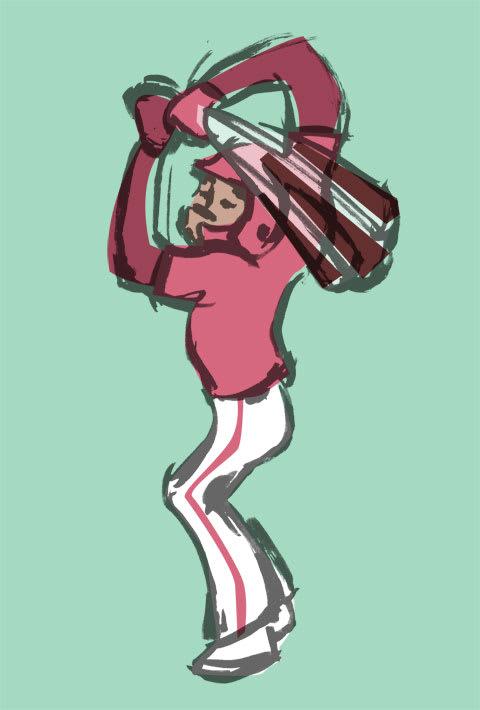 ジャバリ・ブラッシュ選手の似顔絵イラスト画像