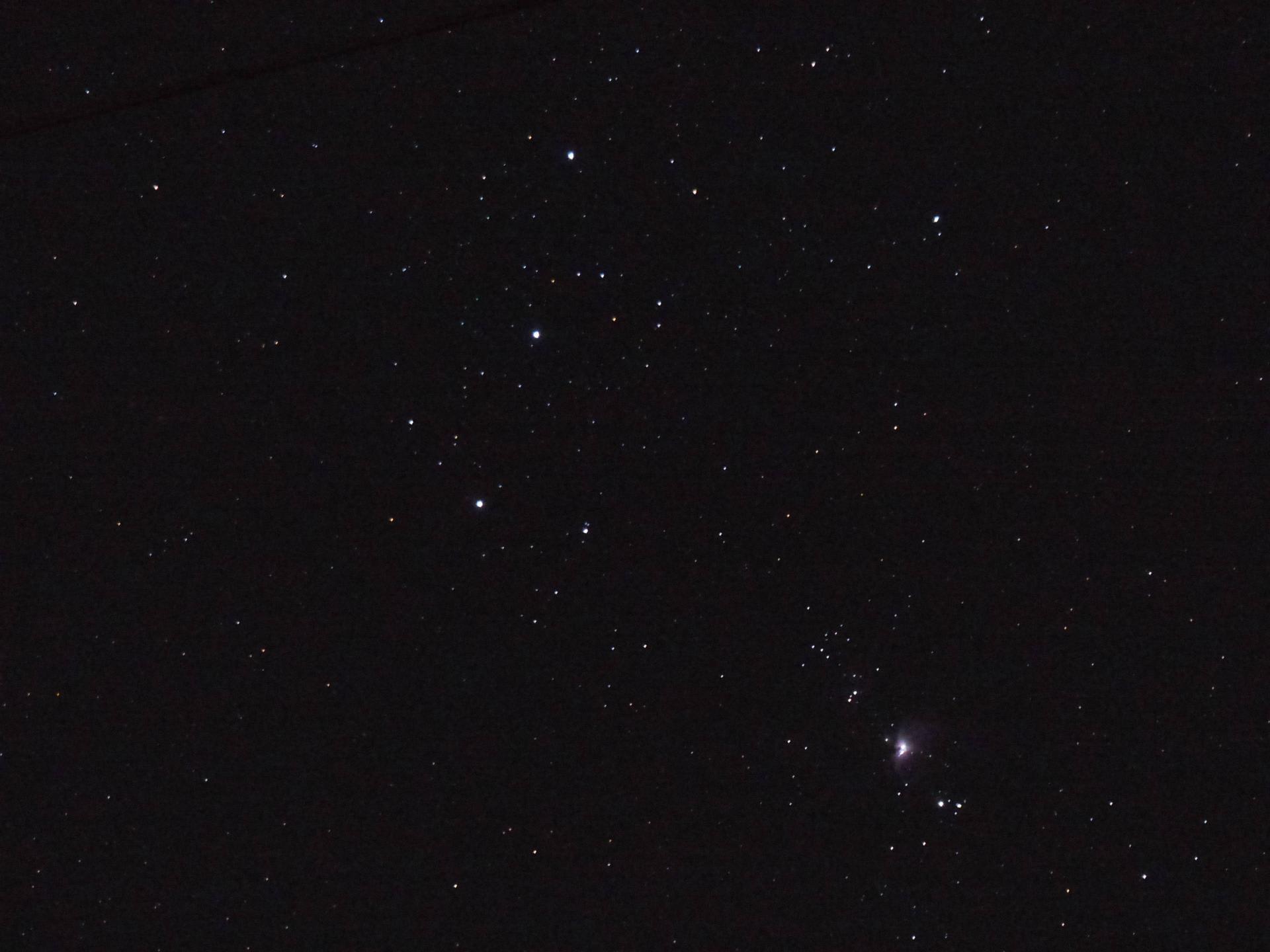 オリオンの三ツ星と小三つ星