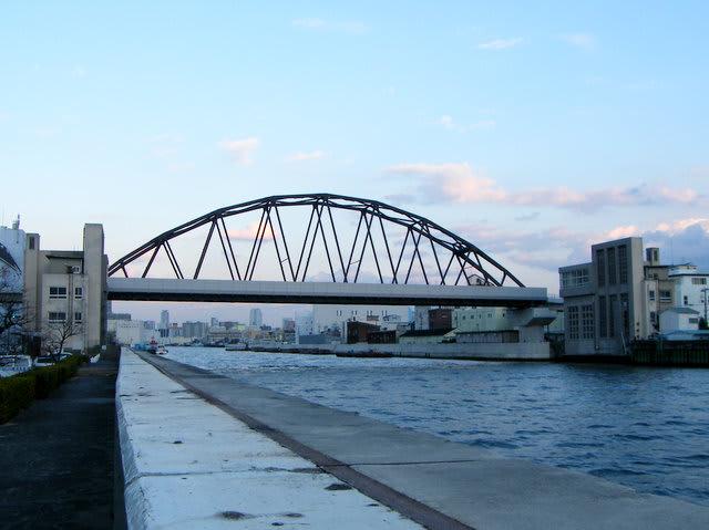 阪神はんば線安治川鉄橋