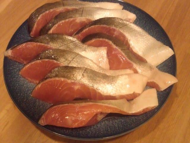 北海道産の秋鮭