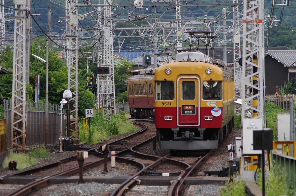 京阪「旧3000系特急車最後の夏」ヘッドマーク付き