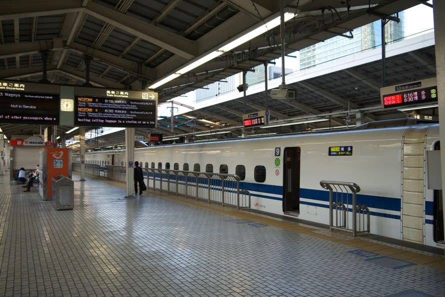 新大阪駅の新幹線のホームにあるもの情報!階段や喫煙所はどこ?