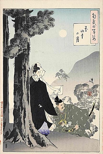 都幾の百姿 花山寺の月 - オオカ...
