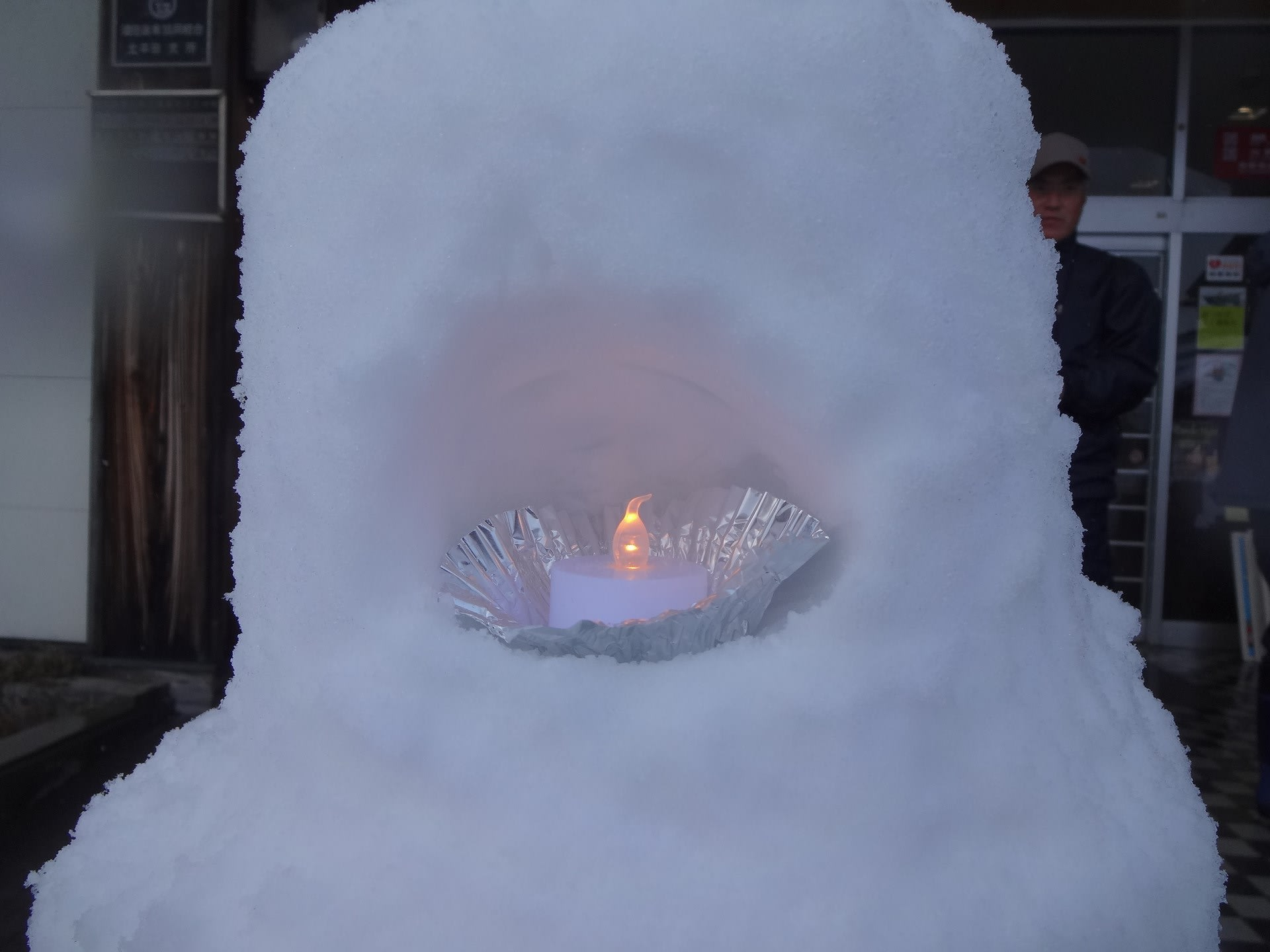 北平田のLED雪灯籠