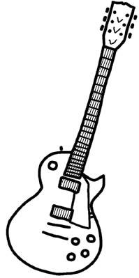 エレキギター イラスト シンプルイラスト素材