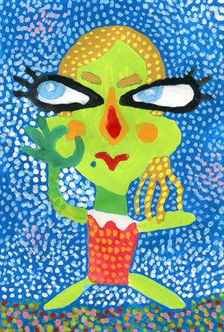 ローラの似顔絵イラスト画像