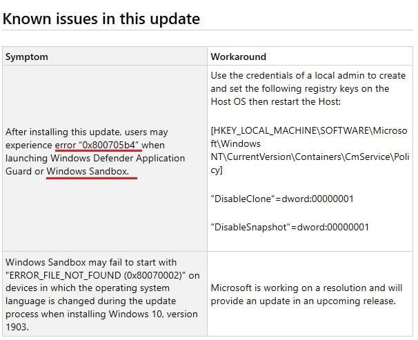 Windows sandbox failed to start error 0x800706d9