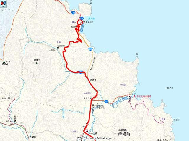 浦入港の地図
