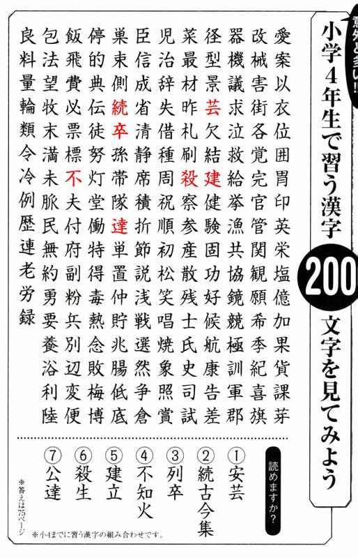 年生 の 漢字 4