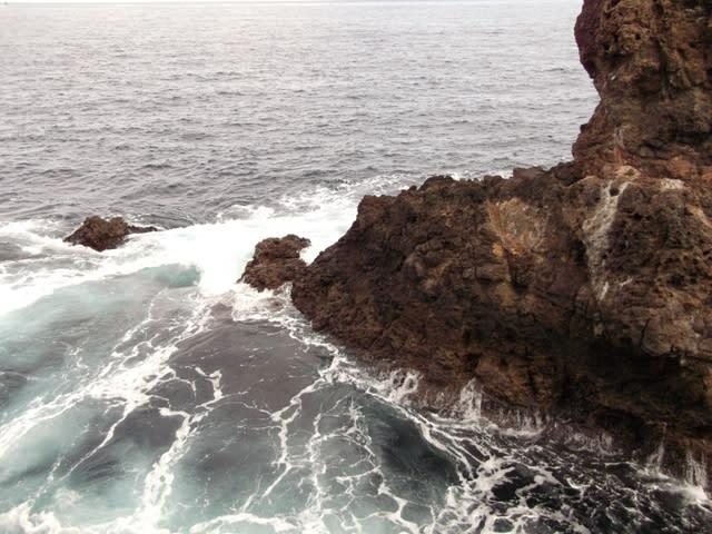 与望島の先端