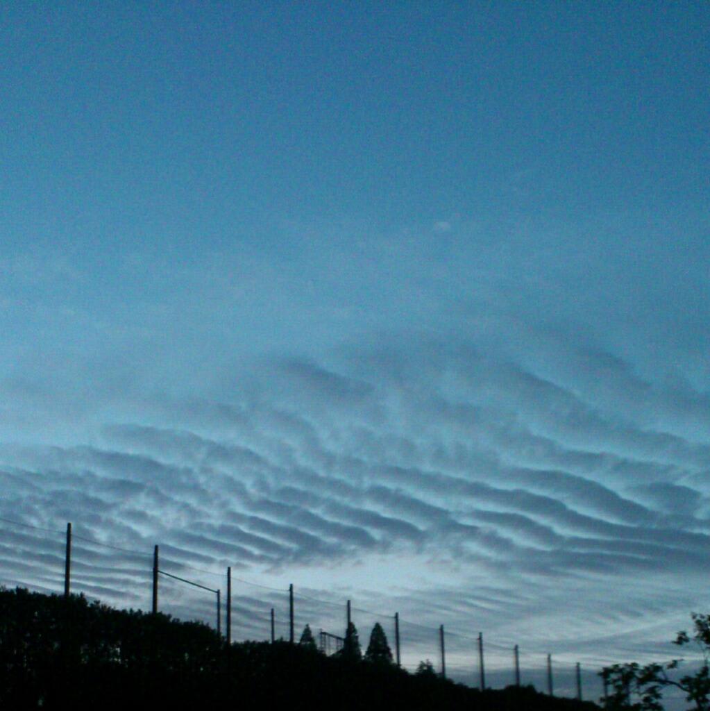 名古屋の上空の地震雲が怖いと話題