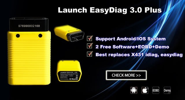 Bluetooth LAUNCH Easydiag 3 0 Plus For Android & iOS Latest