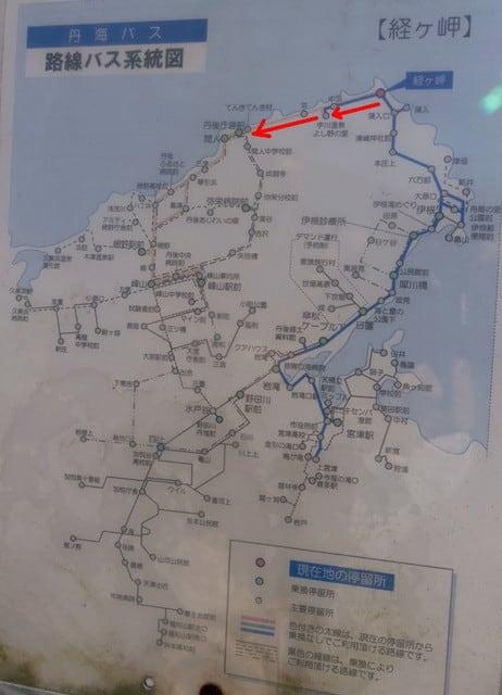 峰山からのバス路線図