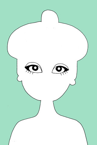 黒柳徹子の似顔絵