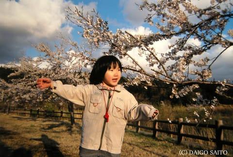 春風の中へ