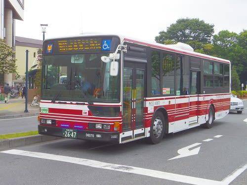 小田急バス狛01系統で伊豆美神社...