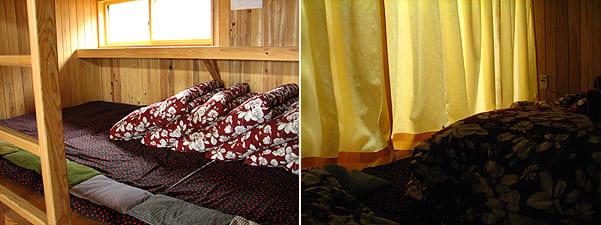 唐松岳頂上山荘の寝床