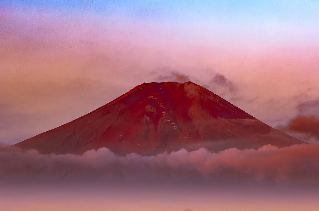 赤富士の写真