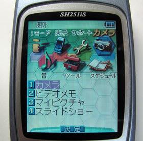 SH-03Cの3D液晶のご先祖様はSH25...