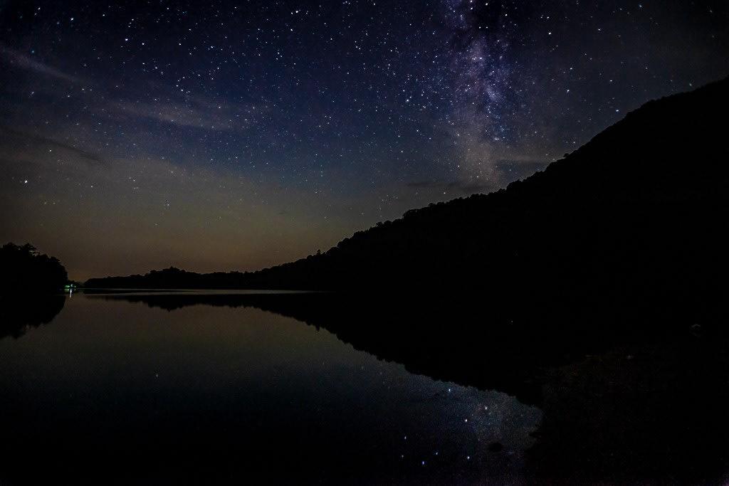 湯ノ湖の星景写真