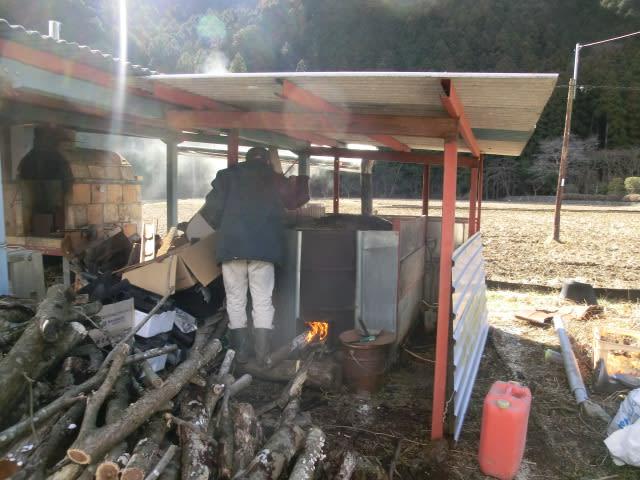 3度目の竹炭作り