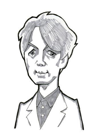 山崎育三郎似顔絵イラストレーション画像