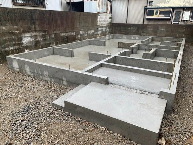 高知市竹島町S様邸の基礎です。 | 高知市で月々三万円で新築建てるならサンブランドハウス
