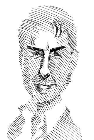 トムクルーズの似顔絵