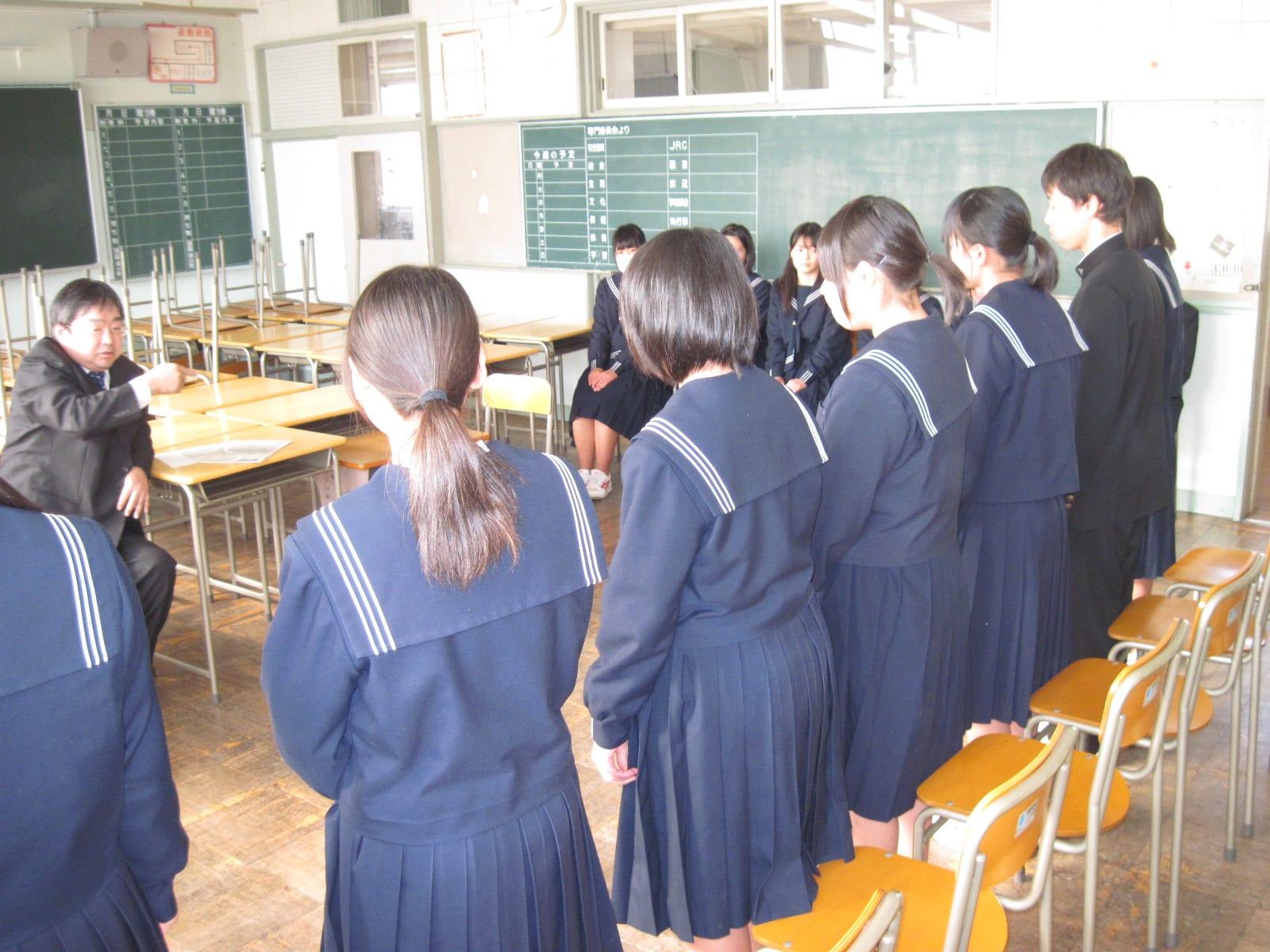 面接練習 - こんにちは!浜松市立曳馬中学校のブログです♪