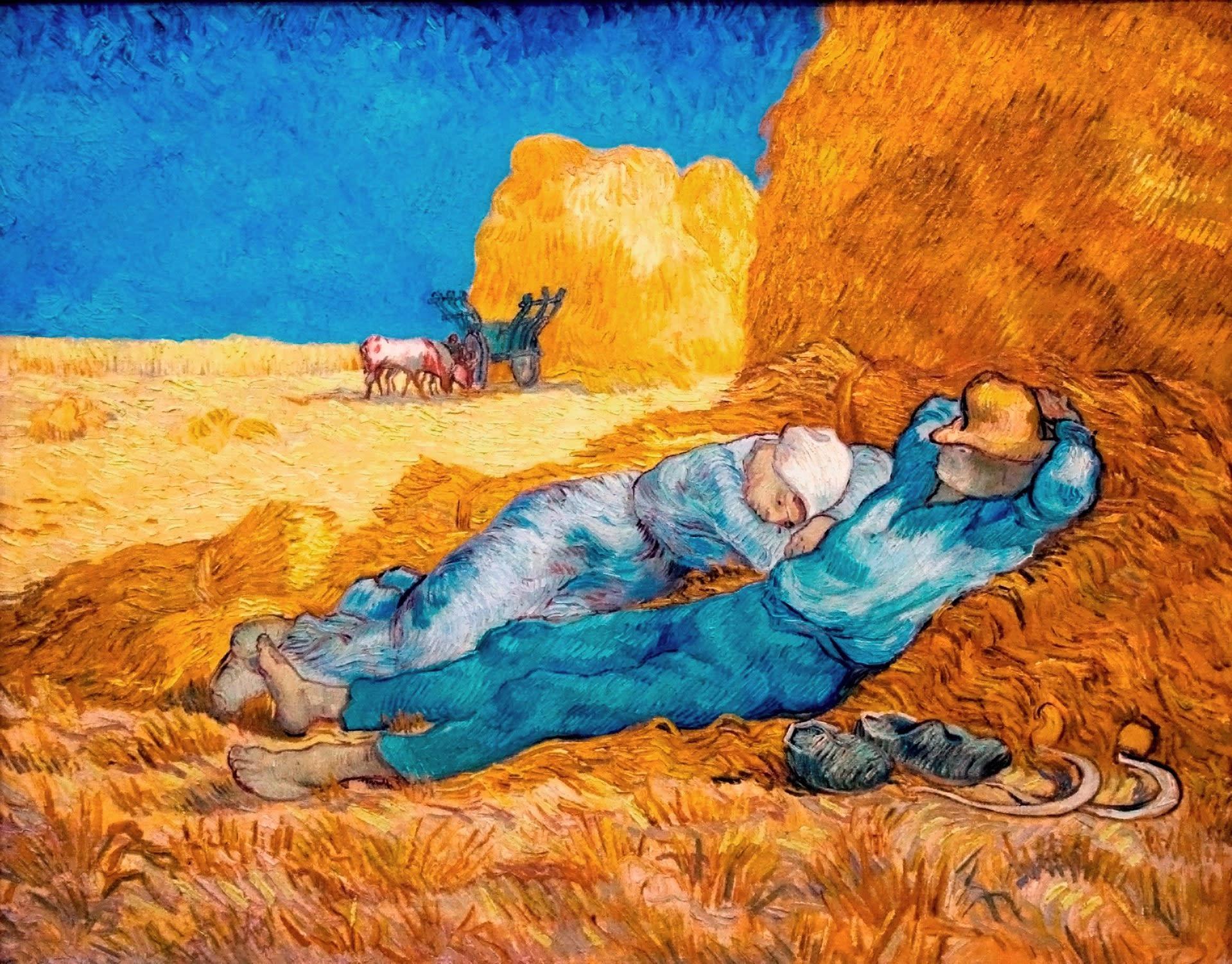 昼の休息【わたしの里の美術館・作品】Peasant Woman Cutting Straw after Millet
